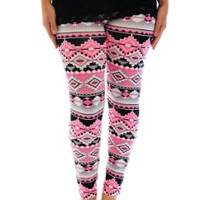 Nouvelle Women's Neon Aztec Print Leggings:Amazon:Clothing