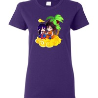 Goku and ChiChi T-Shirt Women Tee DBZ Dragonball Z