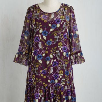 Boho Mid-length 3 Drop Waist At Perch Glance Dress