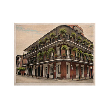 "Sylvia Cook ""New Orleans Street Corner"" Green Brown KESS Naturals Canvas (Frame not Included)"