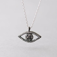 SWAROVSKI EVIL EYE NECKLACE PENDANT STERLING SILVER EVIL EYE JEWELRY by Kellinsilver.com - Sterling Silver Jewelry Online as ETSY