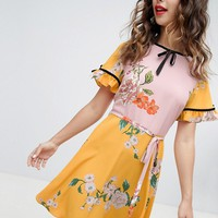 River Island floral print tea dress at asos.com