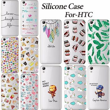 Soft Silicone TPU Mobile Cover Case For HTC Desire 626 626W 626D 626G Unique Young Printing Back Cover Phone Cases For HTC 626