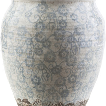 Flora Contemporary Table Vase Slate, Ivory, Taupe