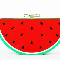 Watermelon Lucite Clutch