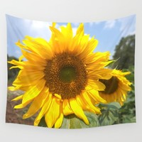 sunflower photography  Wall Tapestry by Color and Color