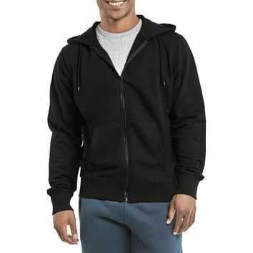 Mechaly Men Basic Cotton Zip Up Athletic Hoodie