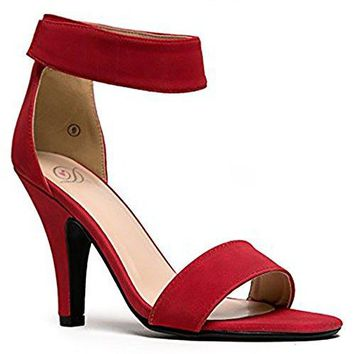 Delicious Womens Open Toe High Heel Ankle Strap Dress Sandal HeeledSandals