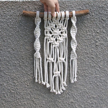 READY TO SHIP Macrame wall hanging Bohemian home decor Macrame rope tapestry Boho wall decor Beach wedding decorations Beach house decor