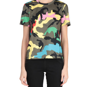 Valentino Camo printed cotton t-shirt