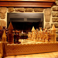 King Arthur Fantasy Chess Set etsy 2012 edition Handmade handcarved chess sets chess boards chess pieces