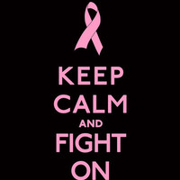 Keep Calm and Fight On Pink Ribbon Design Art Print by Rex Lambo | Society6