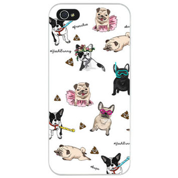Yeah Bunny - Frenchies and Pugs - iPhone Case