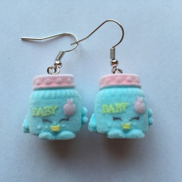 Shopkins Foodie Earrings - Ga Ga Gourmet - repurposed toys