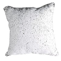 """Two Colors Reversible Sequins Mermaid Pillow Cases 1616"""" White and Silver"""