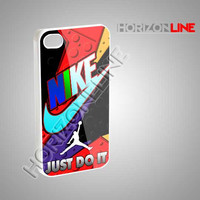 Nike Just Do It Jordan Raptor - iPhone 4/4s/5 Case - Samsung Galaxy S3/S4 Case - Black or White #iPhone #iPhone4/4S #iPhone5 #Samsung
