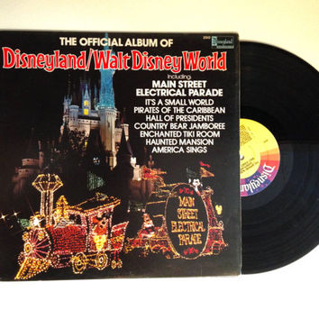 Rare LP Album The Official Album Of Disneyland and Walt Disney Work Vinyl Record 1980