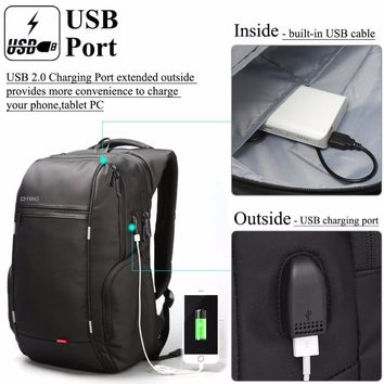 "2017 DTBG 15"" 17"" Hot Smart Business Travel Backpack with USB Charge Porter for Men and Women School Laptop Bag For Mackbook"