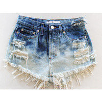 ❥Distressed Ombre Shorts ❥