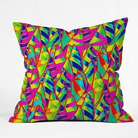 Renie Britenbucher Abstract Sailboats Neon Throw Pillow