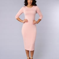 Spontaneous Dress - Dusty Pink
