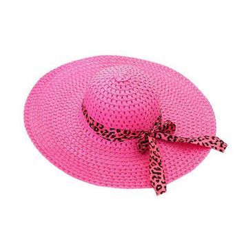 PEAP78W Women Girl Summer Beach Hat Wide Brim Fold Casual Hat Cap Beach Sun Hat