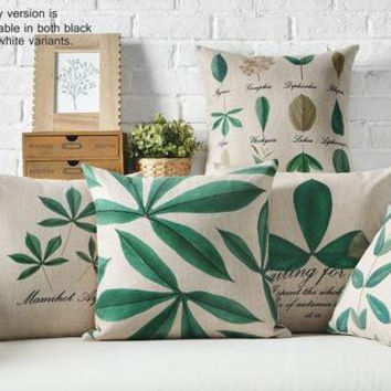 Free shipping!5 Style Plum green leaf tree Printing pillowcases Kids gift flax pillow cases household Bedclothes cushions