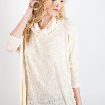 PPLA Smooth Operator Cowl Neck Sweater