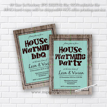 housewarming invitation, rustic invites, New house home sweet home Invitation Card | We have moved Invitation Card Design - card 199