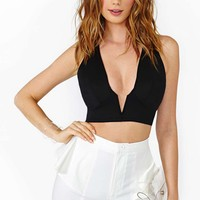 In Deep Crop Top - Black