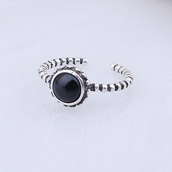 New Arrival Gift Shiny Stylish Jewelry 925 Silver Vintage Twisted Korean Ring [7652915271]