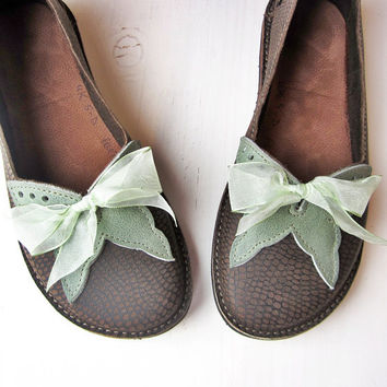 RESERVED... Handmade Leather Shoes, FLUTTERBY fairy tale whimsy by Fairysteps Shoes