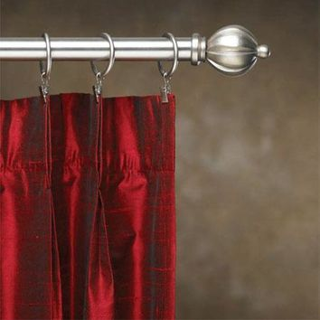 Contemporary Metal Inside Mount Curtain Rod Sets