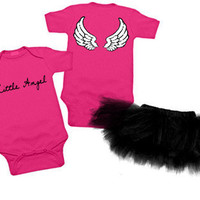 Little Angel One Piece & Black Tutu Gift Set