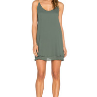 krisa Double Layer Mini Dress in Highland