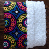 Adult Size Minky Blanket Throw Lap Quilt   by BlueBearDesigns