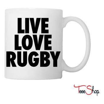 Live Love Rugby Coffee & Tea Mug