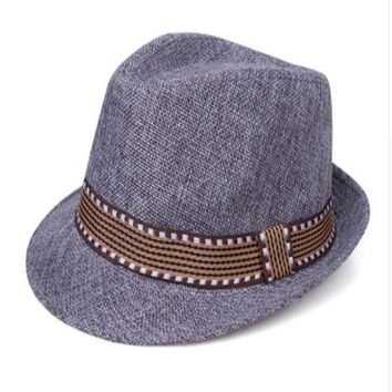 Grey with Band Baby Prop Fedora Hat - CCHT122