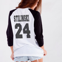 Stiles Stilinski Teen Wolf Dylan O'Brien Stilinski 24 TShirt for Teen Girl Blogger Tumblr Instagram Fangirl Fashion Birthday Christmas Gifts