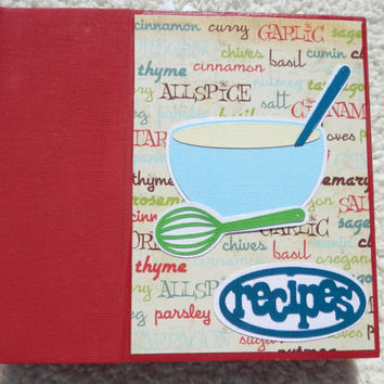 6x6 Recipe Book Scrapbook Album