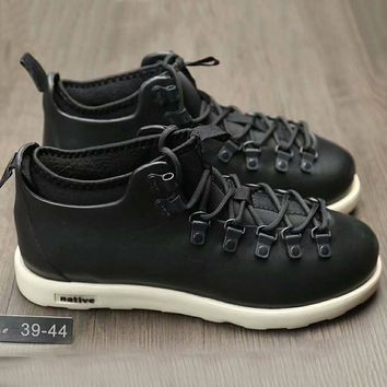 Native Fitzsmmons boots for men shoes waterproof Martin boots lovers Black White Soles G-A0-HXYDXPF