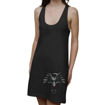 New Mexico Lobos Ladies Blackout Junior's Racerback Dress - Black