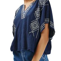 Topshop 'Kindred' Embroidered Caftan Tee | Nordstrom