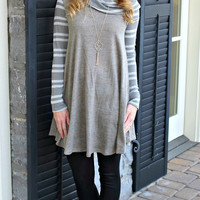 On The Cowl Olive Dress
