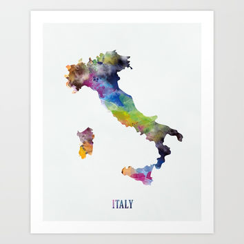 Italy Art Print by monnprint