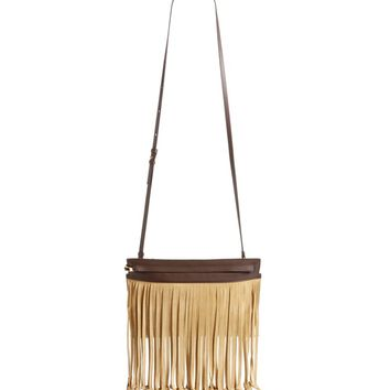 Loewe T Pouch Fringe Leather Crossbody Bag | Nordstrom