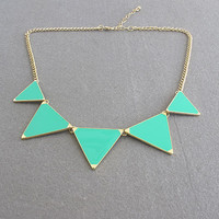 SALE: Triangle necklace, Geometric Necklace / 4 Colors Available