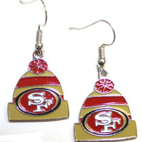San Francisco 49ers Knit Hat Earrings