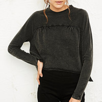 Ecote Anthea Drapey Long Sleeve Top - Urban Outfitters