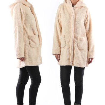 Sherpa Bear Coat (nursing/cozy friendly)